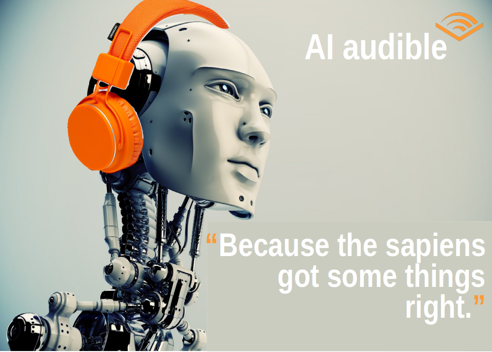 AI audible poster